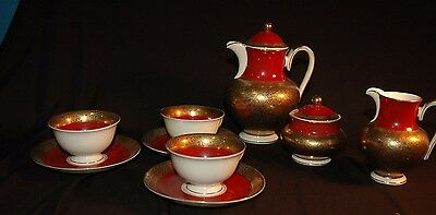 Alka-Kunst Alboth & Kaiser Bavaria Tea set  - 9 pieces- demi sized
