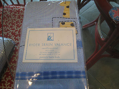 2 Pottery Barn Kids Ryder Train window  Valance 18L X 44W circus animals  New