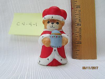 Lucy & Me Enesco Bear Nativity King (red) Figurine Lucy Rigg 1986