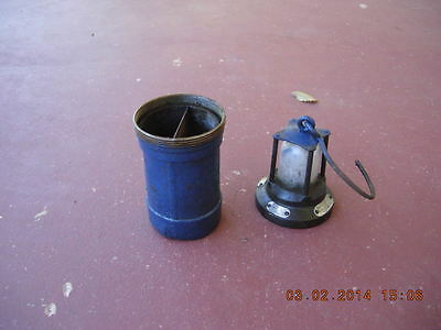 Antique mining lamp ETW battery operated