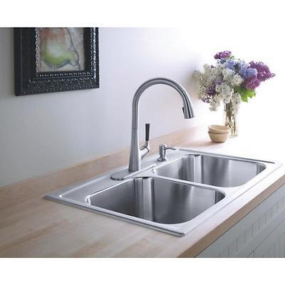 KOHLER Malleco Vibrant Stainless 1-Handle Pull-Down Kitchen Faucet *A*