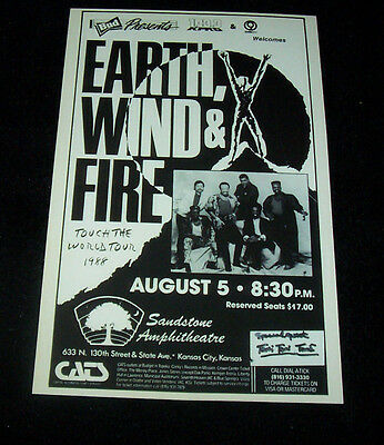 Earth Wind & Fire 1998  Concert Poster   (Free Shipping)