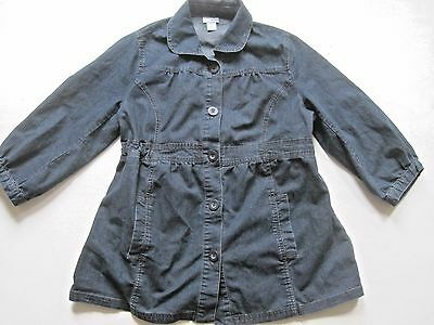 Motherhood Top Size Medium Maternity Denim Tunic Blouse Light Jacket