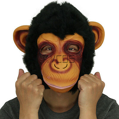 LION MASKS COSTUME Latex Animal Head Mask Party Cosplay