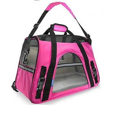 Pet Carrier Soft Sided Large Cat / Dog Comfort rose red Bag Travel Approved