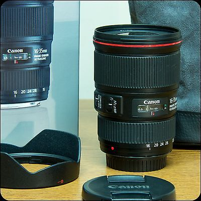 Canon EF 16-35mm f/4 L IS EF USM Lens with Hood and Case: Gently Used