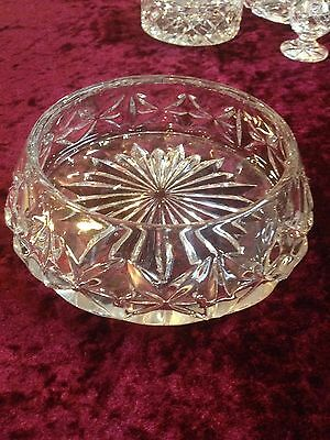 Vintage Crystal Diamond Cut Bowl Price Revised