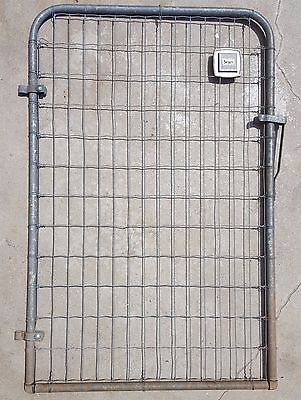 VINTAGE GARDEN GATE 1950's STEEL WIRE SEARS & ROEBUCK INDUSTRIAL ARCHITECTURAL