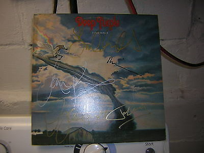 Deep Purple Signed Lp Stormbringer X5 David Coverdale Richie Blackmore
