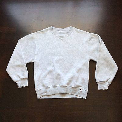 Vintage Gray Russell Athletic Blank Sweatshirt Mens Small Fits XS Unisex USA