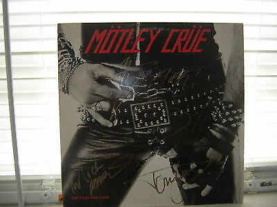 Motley Crue Signed Too Fast For Love X4 Nikki Sixx Mick Mars