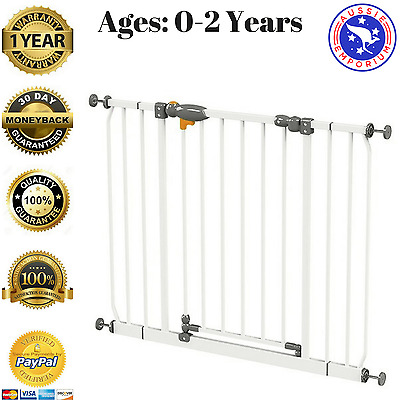 Extra Wide Safety Gate Baby Child Kids Toddler Pet Security Barrier Self Closing