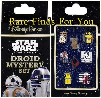 Disney Parks Star Wars Droid Characters 2-Pin Mystery Box Set Booster Pack (NEW)