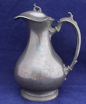 "Pewter Water Jug - Stamped ""Benetein K. & Co. Cheapside"""