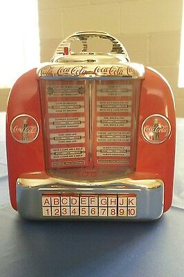 vintage Coca cola juke box bank plays 3 songs table top