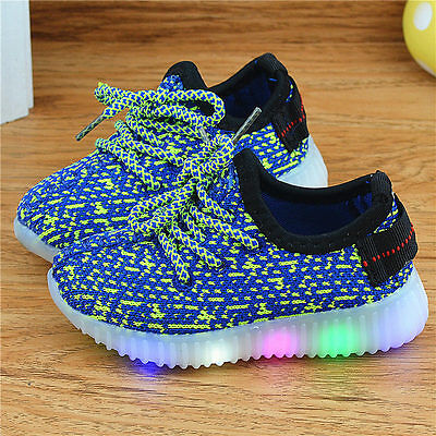 Children shoes with led light up luminous glowing sneakers boys girls shoes