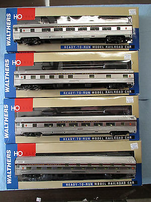 Ho Scale Walthers 85' Budd Passenger Cars Canadian Pacific - 4 Cars