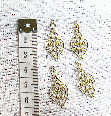Connectors 4 x Gold Plate Earring Jewellery Pendant Necklace Charm
