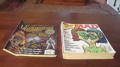 Mad Magazine, Lot of (8) 1999 issues, Plus Collectors Universe Star Wars 1999.