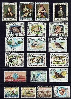 Dubai  Various Stamps...collection...