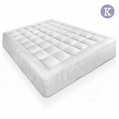 NEW King Size 1000GSM Bamboo Pillowtop Mattress Topper 5cm, Fully Fitted Skirt