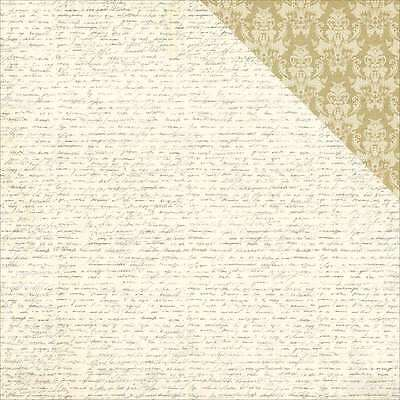 """French Flea Market Double-Sided Cardstock 12""""X12"""" Lettre D'amour 814948024987"""