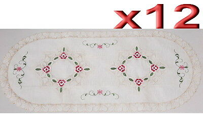 12pc Wholesale Bulk Lots Embroidery Table Runner Home Decoration