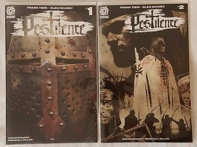 Pestilence #1 and #2 1st printing Aftershock Comics Free Shipping