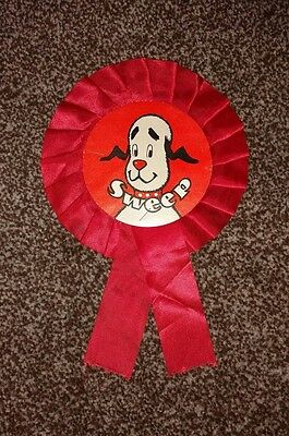 Vintage Retro Sweep Rosette 1960s 1970s - TV Show Sooty