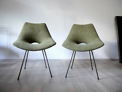 1of2 VINTAGE MID CENTURY 50s 60s PIERRE GUARICHE STYLE EASY CHAIR LOUNGE CHAIR