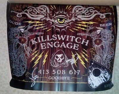 2017 Killthrax World Tour Autographed Killswitch Engage Poster Rare #633 of 2000