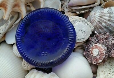 Genuine Beach Sea Glass Blue Bottle Bottom Piece!!