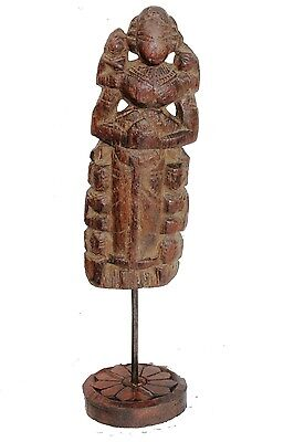 1850s Antique Hand Carved Wooden Tribal Goddess doll/Figurine # 3