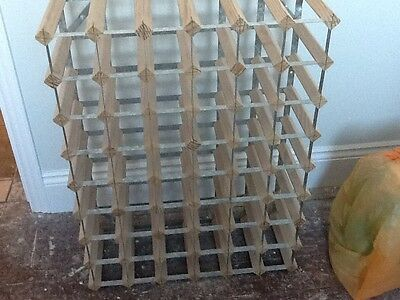 Wine Rack Holder 54 Bottles Storage Floor Stand Display Organizer Metal Frame