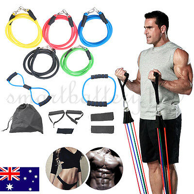 13PCS  Fitness Stretch Door Loop Gym Abs Heavy Resistance Band Yoga Tension Rope