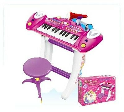 Childrens Recording Electronic 36 Key Keyboard Piano With Stand Microphone and S