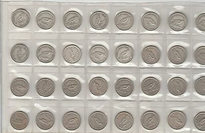 32 X New Zealand Six  Pence  Coins 1933 To 1965