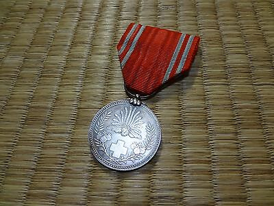 WWII Japanese Red Cross Medal ARMY NAVY BADGE ORDER ANTIQUE FLAG 1A3