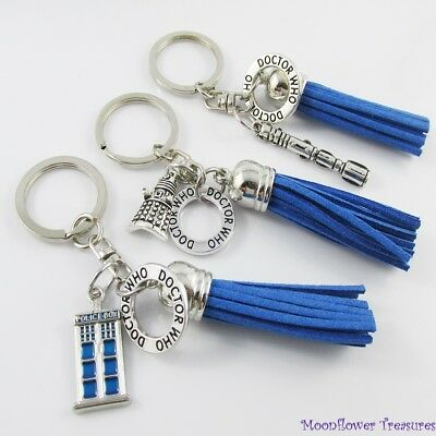 Dr Who Inspired Keychain Bag Tag Swivel Pick Tardis Dalek or Sonic Screwdriver