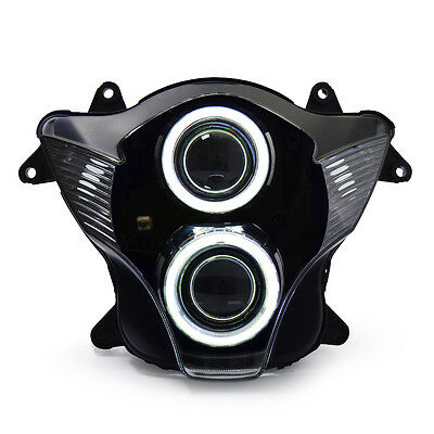 KT LED Angel Halo Eye Headlight Assembly For Suzuki GSXR750 2006-2007 White