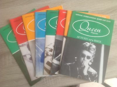 Queen Fan Club Magazines 8 + Poster