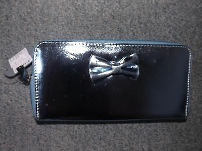 Ladies blue shiny purse new with tags