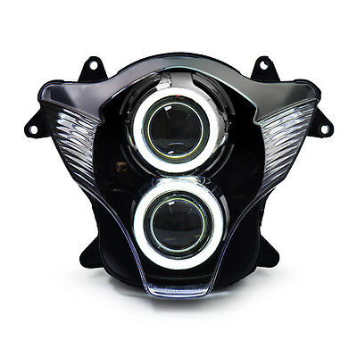 KT LED Angel Demon Eye Headlight Assembly For Suzuki GSXR600 2006-2007 White