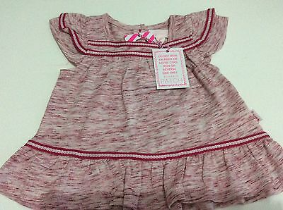 pumpkin patch baby girl Top In Red And White Size 0
