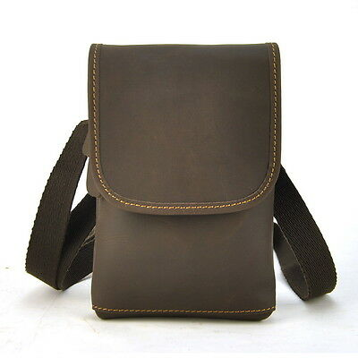 Men's  Vintage Genuine Leather Shoulder Cross Body Bag Fanny Belt Waist Purse
