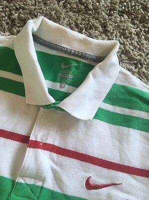 Nike Polo Shirt Size Medium Golf Style Red White And Green
