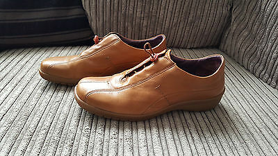 Brown leather Clarks casual shoes size 7
