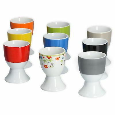 Van Well 6er Set Eierbecher Vario 4,6 cm Porzellan Eier Becher Ei bunt