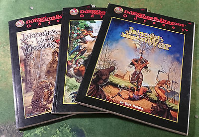 Jakandor Bundle | Complete Set (3 Books) | AD&D 2nd | Odyssey | TSR