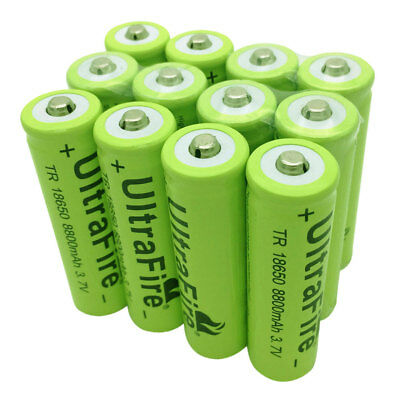 1/2/4/6/8/10X 18650 Batterie 8800mAh 3.7V Li-ion Rechargeable Battery Flashlight